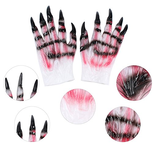 Halloween Wolf Handschuhe Rollenspiele Werwolf Horror Wolf Claw Teufel Latex (Halloween Kostüme Innovative)