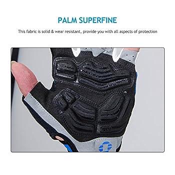 Inbike 5mm Gel Padded Half Finger Cycling Gloves Bike Bicycle Gloves For Biking(blue,m) 6