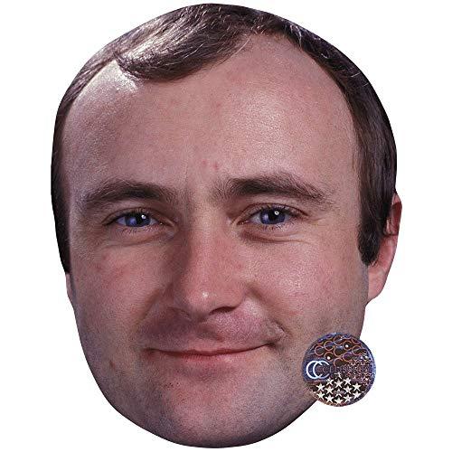 Celebrity Cutouts Phil Collins (Smile) Maske aus Karton