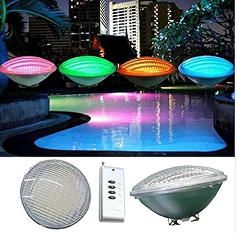 BOVIEW 12V 54W LED Swimming Pool Light with Color Changing for Pentair Hayward Light Fixture with 1 x IR Remote Controller