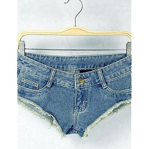 ZY/ vita bassa sexy pantaloni short jean di sagetech?women , blue-l , blue-l