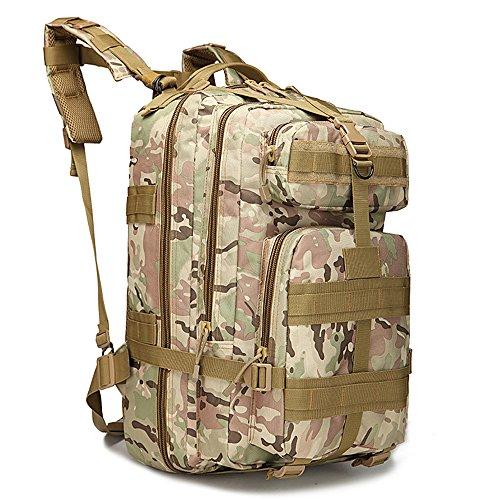 Military Tactical Rucksack Große Armee 3Day Assault Pack Molle Bug Out Bag Rucksäcke Rucksäcke für Outdoor Wandern Camping Trekking Jagd 40L mit 1Schnalle Camouflage