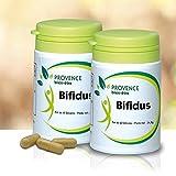 Lot de 2 BIFIDUS - 60 gélules - Probiotique naturel - Régénère la flore intestinale - Améliore l'équilibre digestif - Permet l'élimination des toxines par l'organisme