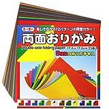 1 X Origami - Loisirs Créatifs - Papier Origami Bicolore - 12 Combinaisons de Couleurs - 35 feuilles - 17.6cm x 17.6cm