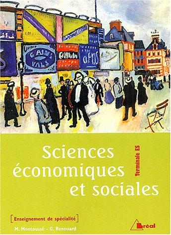 Sciences économiques et sociales Tle ES : Enseignement de spécialité
