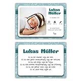 100 x Geburtskarten Babykarten Geburt Baby individuell Mädchen Junge - Kritzeleien