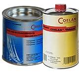 Coelan Bootsbeschichtung transparent 750 ml seidenmatt + Coelan Verdünner 1000 ml
