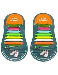 HTT de un solo tamaño se ajusta el cordón, todos los niños de silicona elástica sin corbata zapatos de zapatos para todo tipo de calzado