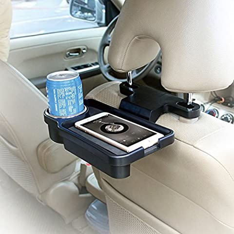 KKmoon Car Cup Tray T22804 Car Back Rear Seat Cup Holder Multi Tray Drink Food Holder Goods Storage