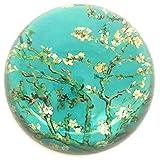 Value Arts Van Gogh's Mandelblüten Briefbeschwerer aus Glas, Durchmesser 7,6 cm