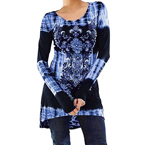 Damen Bluse Xiantime Damen Langarmbluse O Neck Tops Digital Shirt Tops Bluse S-XXL