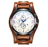 Herren Handtaschen Riemen Kalender Kalender Fashion Watch,Brown2-OneSize