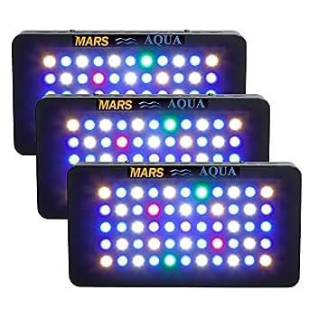 marshydro 3Variateur d'intensité 165W LED Aquarium Lumière plein spectre pour poissons corail pour Aquarium LPS/SPS