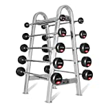 Jordan Fitness 10-45kg Ignite Urethane Barbells (5kg increments/10 Bars) and Oval frame Rack