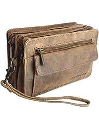 """bolso de cuero bolso masculino """" Harold´s """" Vintage cuero con correa de mano"""
