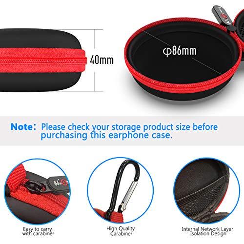 Mini Kopfhörer Tasche mit Schnalle, HiGoing Headset ohrhörer Schutztasche für In Ear Ohrhörer, MP3 Player, iPod Nano, Schlüssel, Lovely Macarons Aussehen (Innenmaß 6.8cm x 6.8cm x 4.0cm) (Rot) - 7
