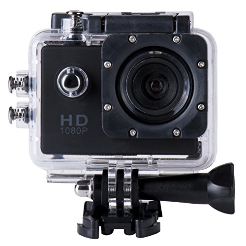 Wasserdicht Sj4000 Auto-kamera (briskym SJ4000Full HD 1080p Kamera 12MP 30m Wasserdicht Action Sport-Kamera DV Auto DVR unterstützt SD bis 32GB, Schwarz )