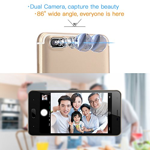 Moviles Libre  DOOGEE X20 Moviles Libres Baratos  3G Smartphone Android 7 0 - MT6580 mali-400 Quad core - 5 0 Pulgadas HD IPS Pantalla - 16GB ROM - 5M