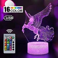 Unicorn Gift Unicorn Night Light for Kids, 3D Light lamp 7 Colors Change with Remote Holiday and Bir (Unicorn4)