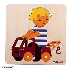 Unbekannt Moover Moov de N- 016Baby Camión Puzzle de Madera, Natural