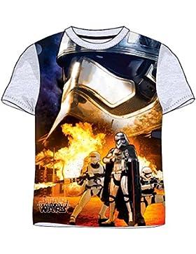 Star Wars T-Shirt für Kinder, original Lizenzware, grau, Gr. 122 - 164