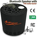 iFox iF010 Bluetooth Speaker with Radio - Best Spec - 5 Functions; Wireless, TF Card, FM Tuner, AUX & Speakerphone Portable and Pairs with All Bluetooth Devices