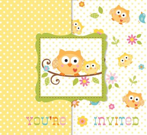 Bébé douche Happi Tree Cartes d'invitation - Lot de 8