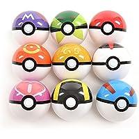 Katara - 3 Poké Bolas de Color Aleatorio Pokéball, Juguete de plástico Pokémon para niños de 3 años y más