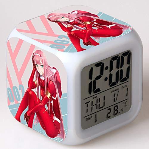 xingwenxue Anime Zeichentrickfilm Charaktere Spielfiguren kreative LED bunten quadratischen kleinen Wecker