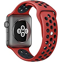 For Apple Watch Sport Watch Band Series 1 Series 2 Soft Silicone Bracelet Strap Wristband Replacement Watchband with Quick Release for Apple iWatch