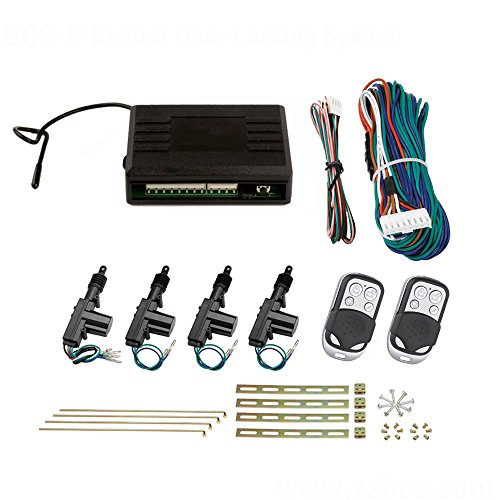 Zentralverriegelung, Komplett Set, 4-türig, incl. 2 Funkfernbedienungen , 4 Stellmotoren