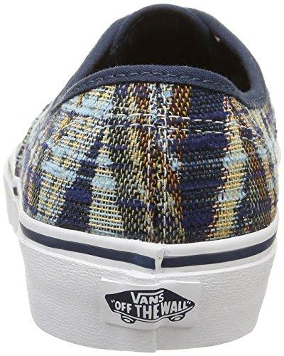 Vans U Authentic Sneakers, Unisex Multicolore (Woven Chevron/Dress Blues/True White)
