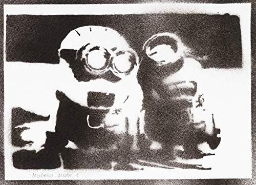 Minions Ich - Einfach Unverbesserlich Poster Plakat Handmade Graffiti Street Art - Artwork