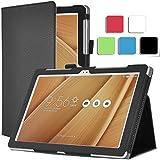 IVSO ASUS ZenPad 10 Slim-Book Etui Housse - Ultra-Slim Folio Case et ultra-léger PU stand Etui Housse pour ASUS ZenPad 10 Tablet (Noir)