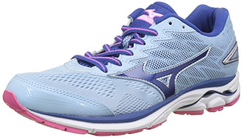 Mizuno Wave Rider 20, Scarpe da corsa Donna, Arancione (Angel Falls/True Blue/Electric), 37 EU