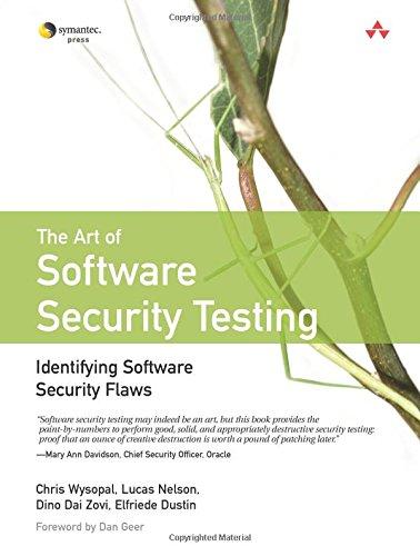 Preisvergleich Produktbild Art of Software Security Testing,  The: Identifying Software Security Flaws: Identifying Software Security Flaws (Symantec Press)