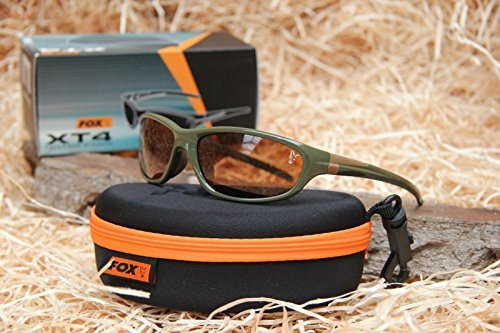 Fox XT4 Sunglasses Polbrille - grüner Rahmen braune Gläser - CSN033 by Fox