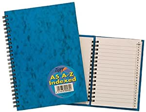 Tiger Index A-Z Twinwire A5 Notebook