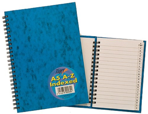 Tiger Index A-Z Twinwire A5 Notebook Test