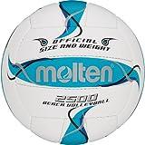 Molten BV2500-FBO Beachvolleyball Trainingsball weiß-blau Weiß/Blau/Silber, Größe 5