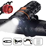 Wasafire LED Bicycle Lights Set, Super Bright Bike Front Light and Rear Light