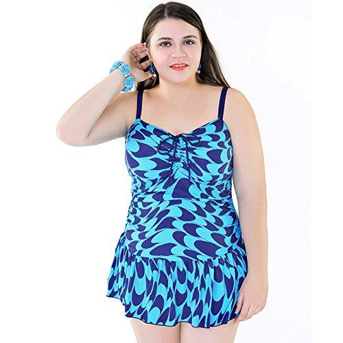 SHISHANG Großer Bikini Badeanzug Frauen Badeanzug verstellbarer Schulterriemen heißer Frühling Badeanzug Europa und die Vereinigten Staaten schnelltrocknende hochelastische Mehrfarbenwahl Blue