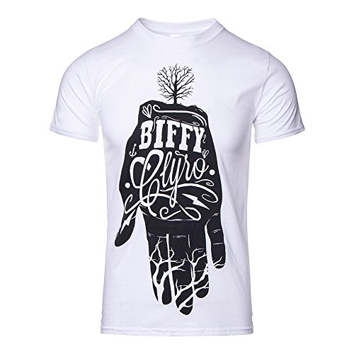 T Shirt Biffy Clyro Hand (Bianco) - Medium