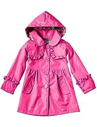 Highdas Las muchachas de 'Outwear lindo encapuchan el vestido Windbreaker 100-140 del vestido de la capa de la chaqueta