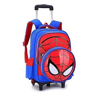51M4Qc6ZDXL. SS324  - Spiderman Printed Elementary Trolley Mochila Escolar Rolling Bag Primary Wheeled Book Bag para NiñOs Y NiñAs Mochila Trolley para NiñOs De 5 A 12 AñOs