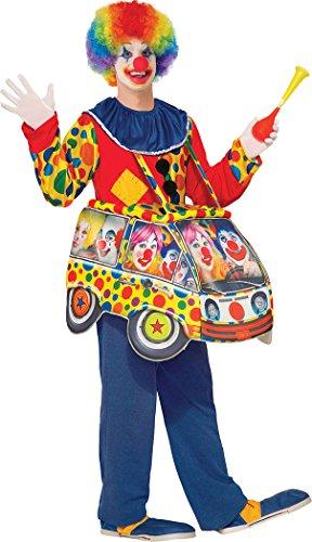 onlyglobal Erwachsene Verkleidung Kostümparty lustig Circus Joker Clown Auto Schritt Kostüm Einheitsgröße