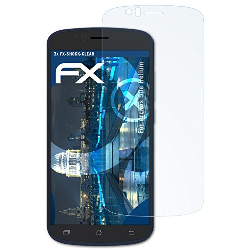 atFolix Schutzfolie kompatibel mit Archos 50e Helium Panzerfolie, ultraklare und stoßdämpfende FX Folie (3X)