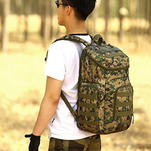 Gazechimp 40L Rucksack, Erwachsene Taktischer Rucksack Trekkingrucksack Outdoor Reiserucksack für Camping Wandern Reisen Radfahren Jungle Digital