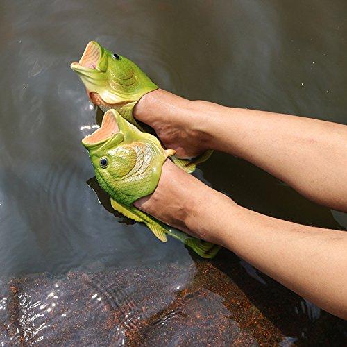 Oasap Herren Damen Besondere Fisch Strand Slippers Flip Flops Anti-Rutsch Hausschuhe - 6
