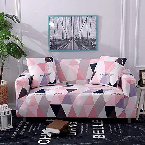 X-BaoFu, Sofa Cover Tight Wrap All-Inclusive rutschfeste Sofabezug-Handtuch L-förmige Ecksofabezüge für das Wohnzimmer (Color : Pink, Specification : 3 Seater Couch Cover) -